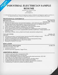 Gallery Of Industrial Electrician Resume Sample Resume Ideas