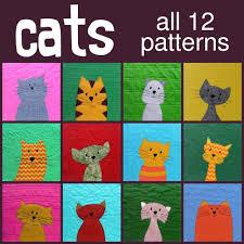 Cats Quilt Pattern | Quilt, Cats and Cute cats & Cats Quilt Pattern Adamdwight.com