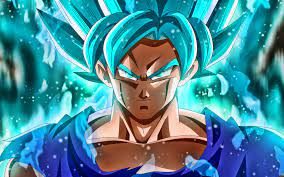 Goku Wallpaper 4k Red And Blue ...