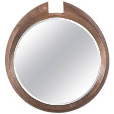 large modern round arpels wall mirror  contemporary transitional