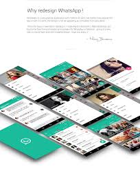 Whatsapp Design App Whatsapp Material Design Concept On Behance
