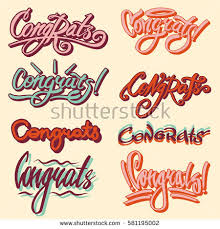 congratulation templates congrats drawn text templates congratulation vector stock photo