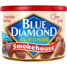 blue diamond almonds smokehouse 6 oz can