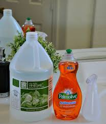 to make this cleaner you need exactly two ings dish soap and plain old white vinegar i keep a bottle of dish soap and a gallon of vinegar in my