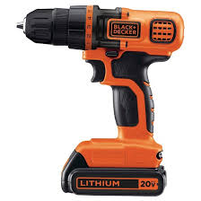 black and decker tools. black+decker™ 20v max* lithium drill/driver kit (orange w/ black) - ldx120c black and decker tools a
