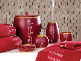 red bathroom accessories  navpa