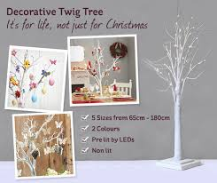 Decorative White Twig Tree 104cm  Table Party Tree Table And Decorative Twig Tree