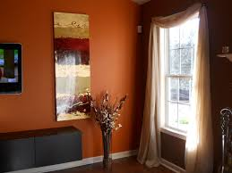 Orange And Brown Living Room Living Room Chocolate Brown Walls With Copper Orange Accent Wall