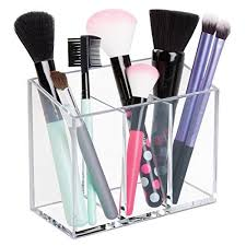 hair brush organizer. Wonderful Hair MDesign AFFIXX PeelandStick Adhesive Vanity Cosmetic Organizer For Hair  Care Jewelry Bath QTip Holder Makeup  3 Compartment Clear And Brush I