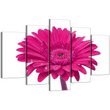 display gallery item 4 five part set of living room pink canvas art display gallery item 5 on gerber daisy canvas wall art with extra large flower canvas wall art 5 piece in pink