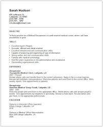 Receptionist Resume Template Free Sarahepps Com
