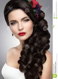 Belle Femme Avec Le Maquillage Dor Belle Mariée Avec La