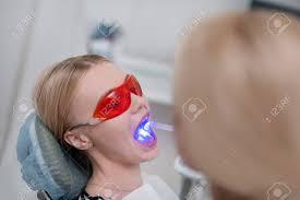 Uv Light Tooth Filling Dental Curing Dentist Using Light Of Ultraviolet Lamp For Tooth