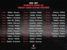 """Şampiyon Beşiktaş JK 🏆🏆 on Twitter: """"Beşiktaşımızın 2016-17 Spor Toto  Süper Lig Turgay Şeren Sezonu fikstürü #Beşiktaş… """""""