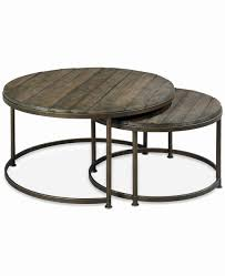 round wood and metal side table unique coffee table rowan od outdoor round coffee table concrete