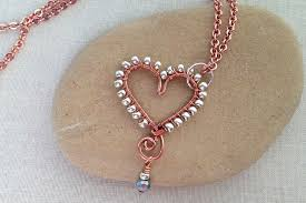 heart with beaded edge and dangle