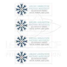 Address Labels Winter Snowflake Blue Silver