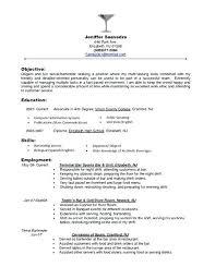 Resume Sample For Restaurant Server Professional Restaurant Server