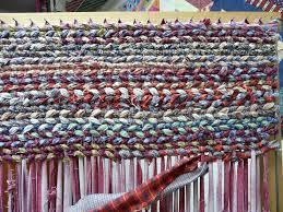 twisting weave rag rug