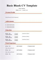 Blank Resume Forms To Print Cv Template Form Photo Resume Templates Professional Cv Formats