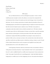 rip project analysis omar morales writing portfolio my first essay because of how poorly written each one of my early drafts were compared to the final portfolio draft