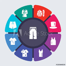Clothes Vector Template For Infographics Business Concept