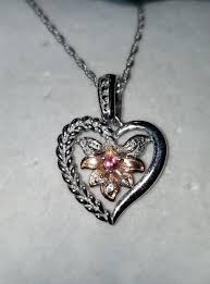 details about calla lily flower 14k rose gold sterling silver pink topaz pendant necklace cc
