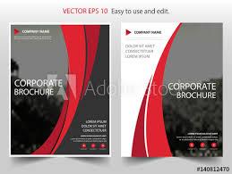 red curve vector business proposal leaflet brochure flyer template design book cover layout design