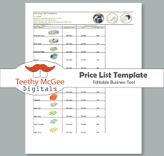 Price List Format 24 Free Price List Templates Excel PDF Formats 13
