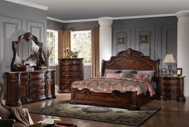 Barney's Traditional Walnut with Marble Top Bedroom set - Casye ...