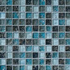 blue glass mosaic tile backsplash sample blue glass mosaic tile crackle  kitchen bathroom sample blue glass