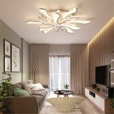 Modern Acrylic Ceiling Light For Living Room Warm Lamp Fixture