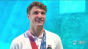 Olympic gold medalist Bobby Finke ...
