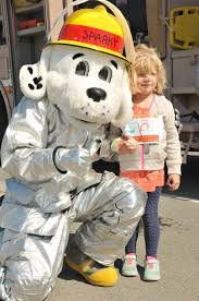 sparky the fire dog robot. download hi-res / photo details. sparky the firedog showed his support at fire dog robot