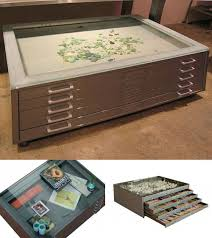 coffee table be a vintage map case