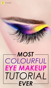 colourful eye makeup tutorials are simply awesome to try here is an another amazing tutorial