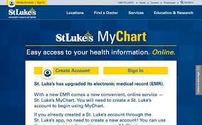 St Luke S My Chart Healthcare Medical Login Pages Website Inspiration And