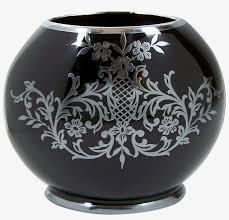 vintage black amethyst glass vase sterling silver fl vase