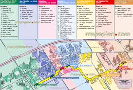 las vegas map  monorail stations  nearby boulevard hotels