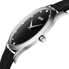black leather men watch slim as coin slimy style ultra thin price black leather men watch slim as coin slimy style ultra thin