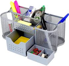 home office desk accessories. Amazon.com : DecoBros Desk Supplies Organizer Caddy, Silver Office Products Home Accessories