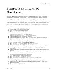 Exit Interview Checklist Hr Sample Exit Interview Questions