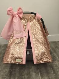 rose gold and baby pink car seat canopy cat cover cat canopy sequin infant car seat cover gold sparkle