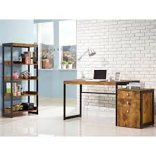 industrial style home office. highlight your love of industrial style with this home office collection. featuring a mix wood and metal materials, each piece has distinctly r