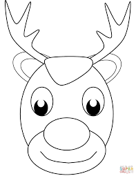 Small Picture Christmas Reindeer Face Coloring Page And Coloring Page esonme