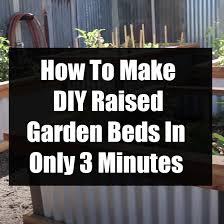 how to make diy raised garden beds in