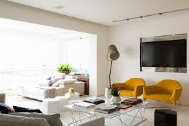 contemporary track lighting living room contemporary. luxurious golden apartment design make you new mounted flat screen tv above chair in contemporary track lighting living room