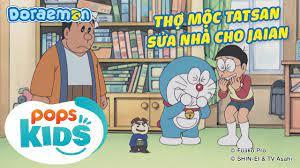 S8] Doraemon Tập 381 - Thợ Mộc Tatsan Sửa Nhà Cho Jaian, Miếng Dán Nobita -  Hoạt Hình Tiếng Việt