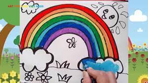 Hướng dẫn bé vẽ cầu vồng   Drawing and Coloring Rainbow   art for Kids V...    Drawing, Cầu vồng, Việt nam