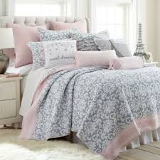 Buy Pink Full Queen Quilt from Bed Bath & Beyond & Levtex Home Margaux Reversible Full/Queen Quilt Set in Grey/Pink Adamdwight.com